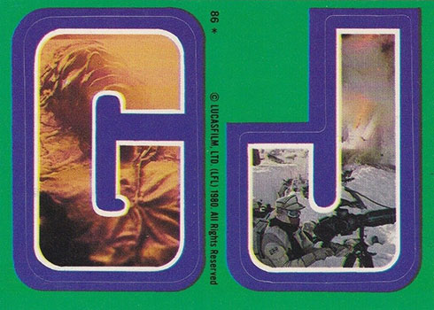 1980 Topps Empire Strikes Back Stickers 86