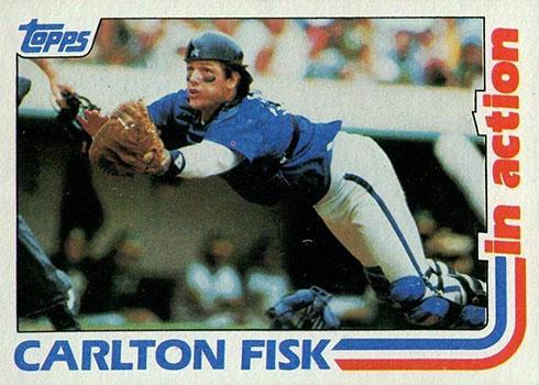 1982 Topps Baseball Carlton Fisk In Action