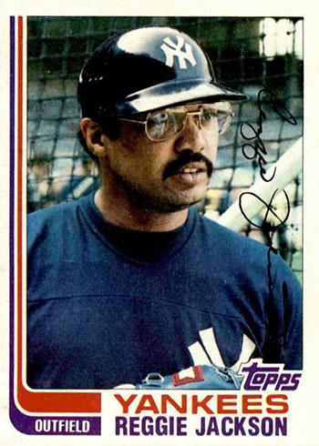 1982 Topps Baseball Reggie Jackson