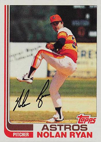 1982 Topps Baseball Nolan Ryan
