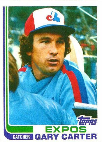 1982 Topps Blackless Gary Carter