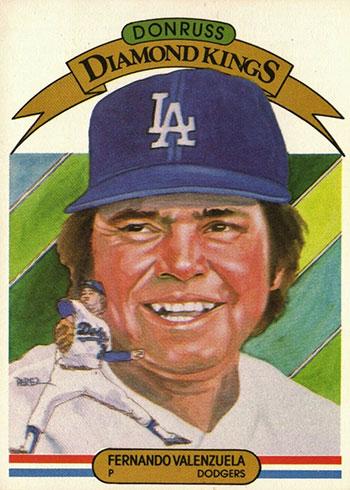1983 Donruss Baseball Fernando Valenzuela Diamond Kings