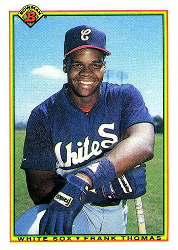 1990 Bowman Frank Thomas Rookie Card