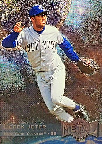 1996 Metal Universe Baseball Derek Jeter