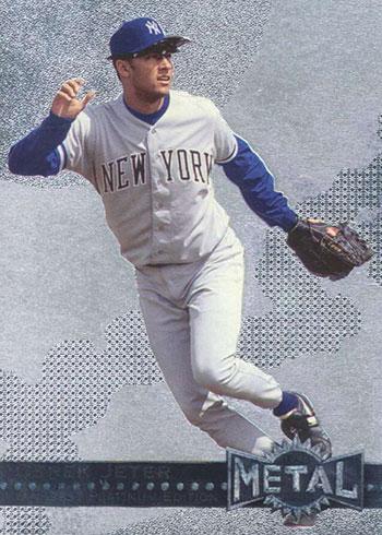 1996 Metal Universe Baseball Platinum Derek Jeter