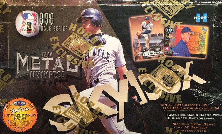 1998 Metal Universe Baseball Hobby Box