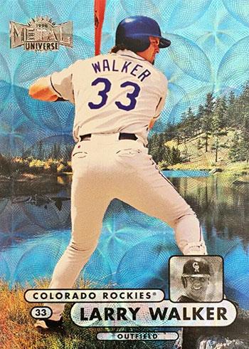 1998 Metal Universe Baseball Precious Metal Gems Larry Walker