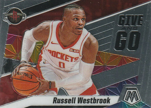 2019-20 Panini Mosaic Basketball Give and Go Russell Westbrook