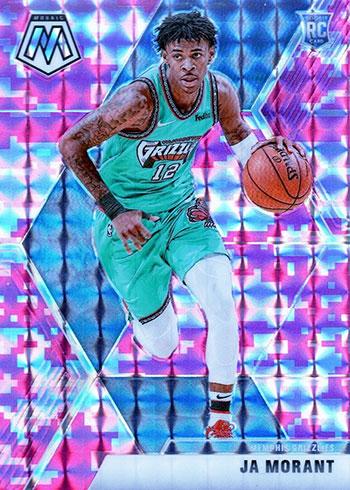 2019-20 Panini Mosaic Basketball Pink Camo Mosaic Ja Morant