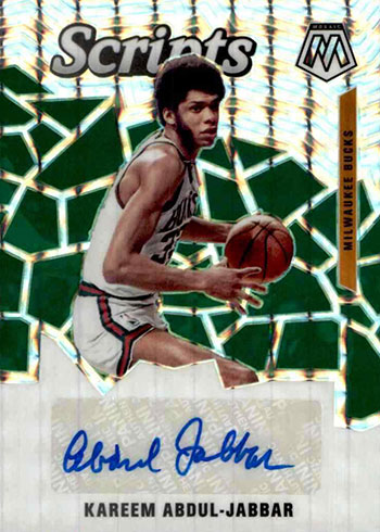 2019-20 Panini Mosaic Basketball Scripts Kareem Abdul-Jabbar