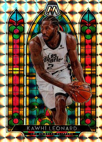 2019-20 Panini Mosaic Basketball Stained Glass Kawhi Leonard