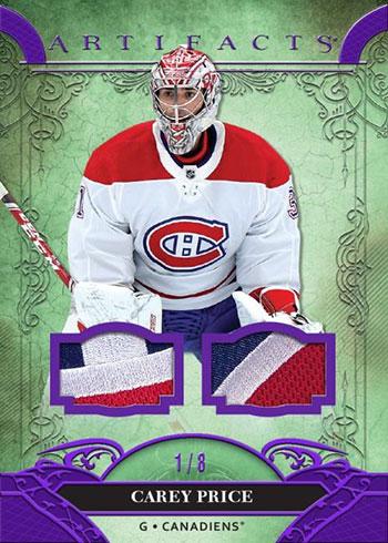 2020-21 Upper Deck Artifacts Hockey Base Purple Material