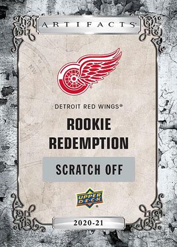 2020-21 Upper Deck Artifacts Hockey Rookie Redemption