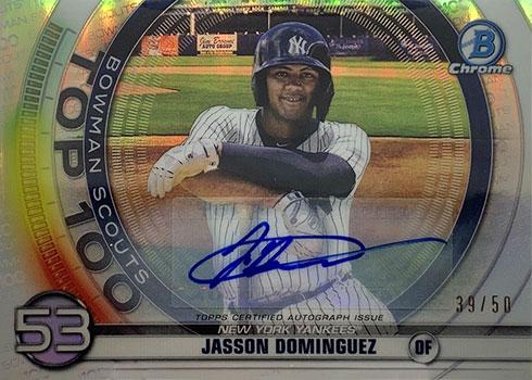 2020 Bowman Chrome Bowman Scouts' Top 100 Autographs Jasson Dominguez