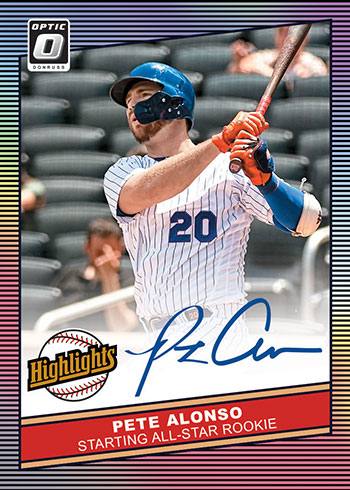 2020 Donruss Optic Baseball Highlights Signatures