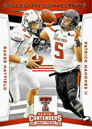 2020 Panini Contenders Draft Picks Football Collegiate Connections Baker Mayfield Patrick Mahomes