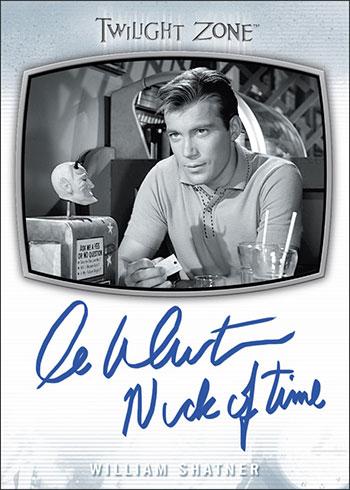 2020 Rittenhouse Twilight Zone Archives Inscription Autographs William Shatner