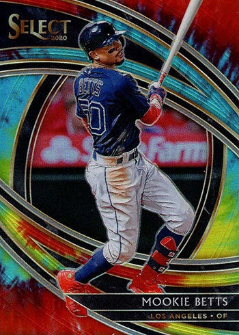 2020 Panini Select Baseball Tie-Dye Mookie Betts