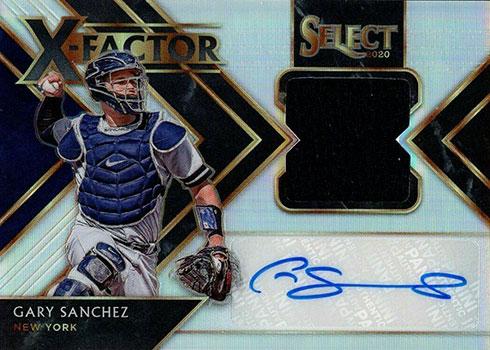 2020 Panini Select Baseball X-Factor Material Signatures Holo Gary Sanchez