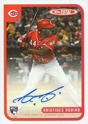 2020 Topps Total Baseball Aristides Aquino Autograph