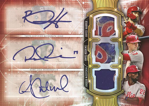 2020 Topps Triple Threads Baseball Touch Em All Autograph Relic
