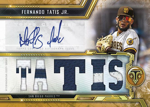 2020 Topps Triple Threads Baseball Autograph Relic Gold