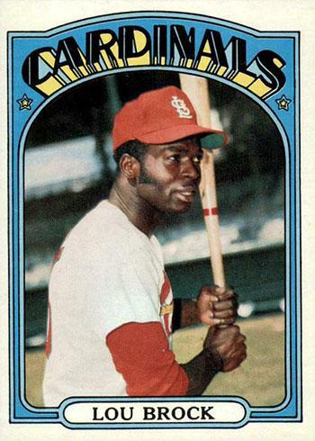 1972 Topps Baseball Lou Brock