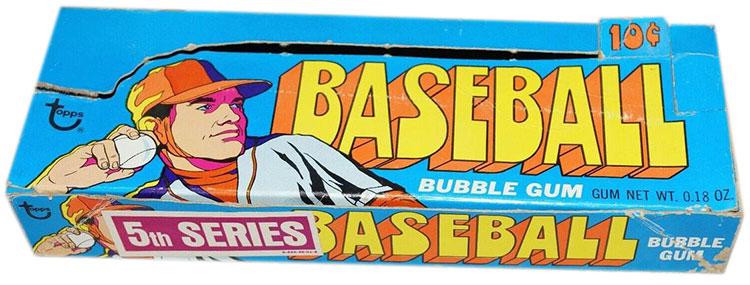 1972 Topps Baseball Cards 5th Series Box
