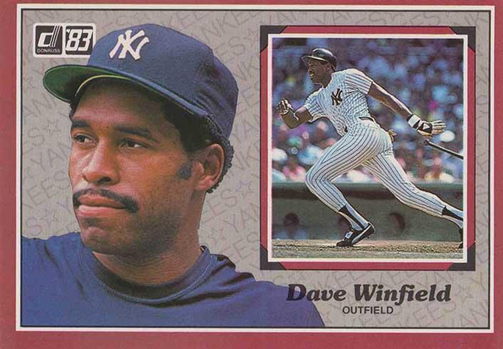 1983 Donruss Action All-Stars Baseball Dave Winfield
