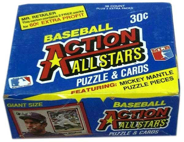 1983 Donruss Action All-Stars Baseball Box