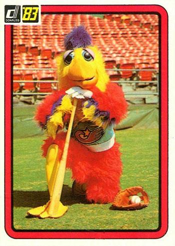 1983 Donruss Baseball San Diego Chicken