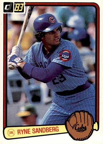 1983 Donruss Baseball Ryne Sandberg Rookie Card