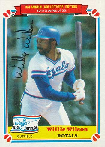 1983 Drake's Baseball Willie Wilson