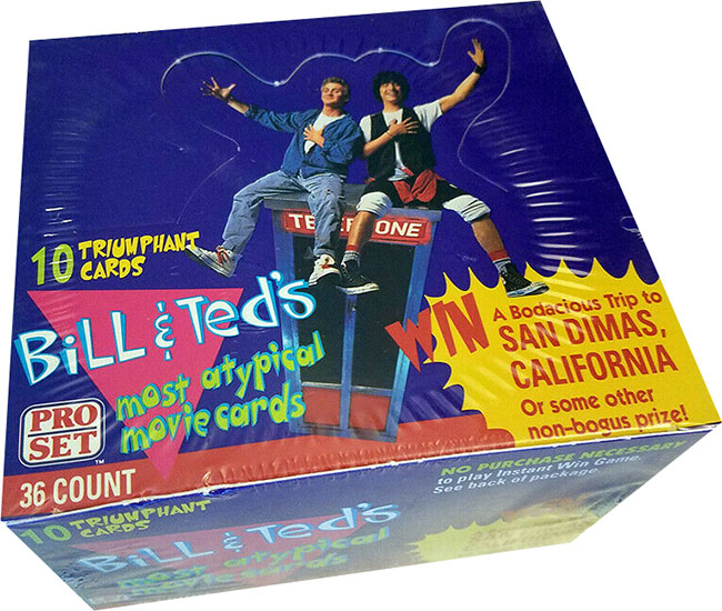 1991 Pro Set Bill and Ted's Most Atypical Movie Cards Box