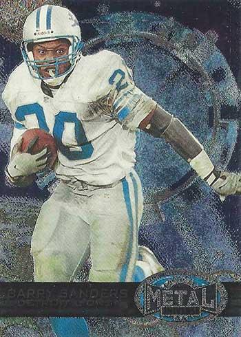 1997 Metal Universe Football Barry Sanders