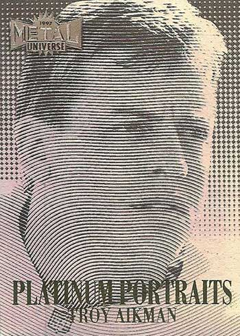 1997 Metal Universe Football Platinum Portraits Troy Aikman