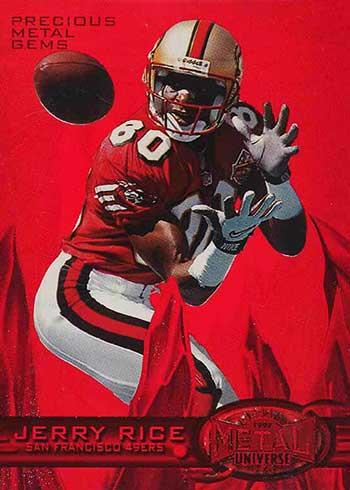 1997 Metal Universe Football Precious Metal Gems Jerry Rice