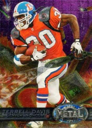 1997 Metal Universe Football Promo Card Terrell Davis