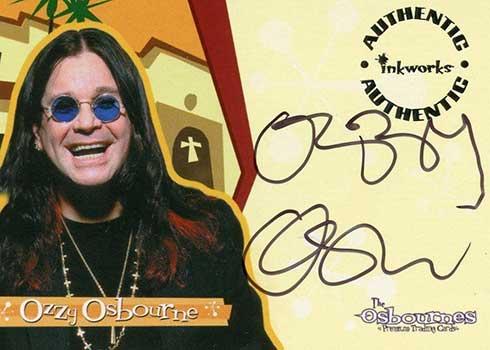 2002 Inkworks Osbournes Season 1 Autographs Ozzy Osbourne