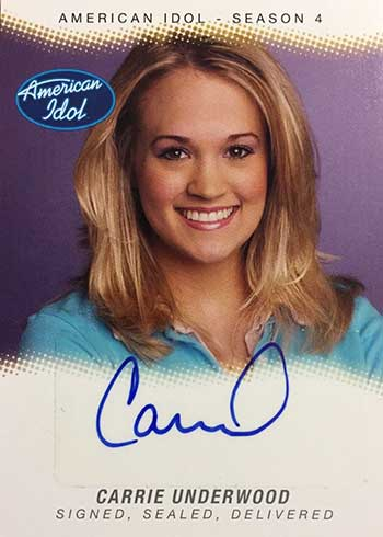 2005 Fleer American Idol Season 4 Signed, Sealed and Delivered Carrie Underwood Autograph