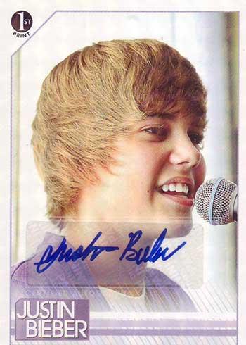 2010 Panini Justin Bieber Autograph