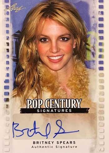2011 Leaf Pop Century Britney Spears Autograph