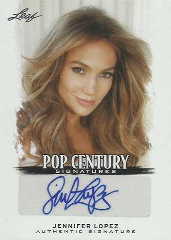 2012 Leaf Pop Century Jennifer Lopez Autograph