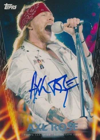 2013 Topps Archives Heavy Metal Autographs Axl Rose
