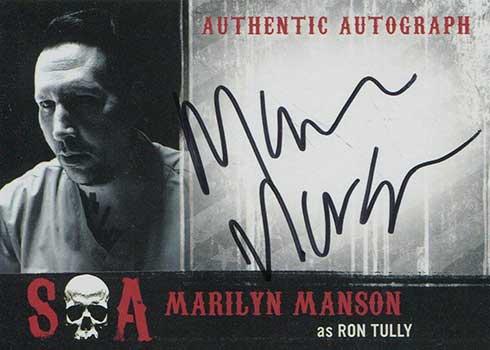 2015 Cryptozoic Sons of Anarchy Seasons 5-7 Autographs Marilyn Manson