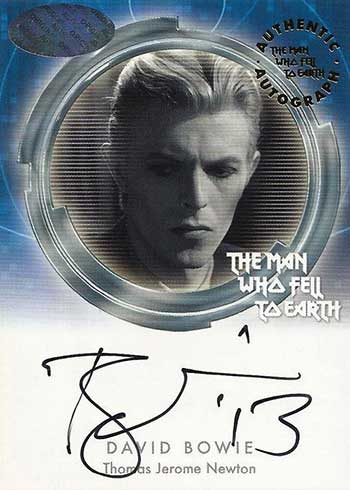 2015 Cards Inc. Man Who Fell to Earth Autographs David Bowie