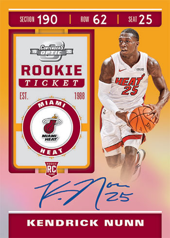 2019-20 Panini Contenders Optic Basketball Rookie Ticket Autographs Gold
