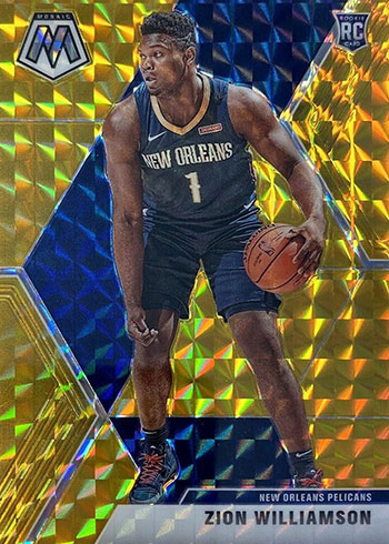 2019-20 Panini Mosaic Basketball Gold Mosaic Zion Williamson