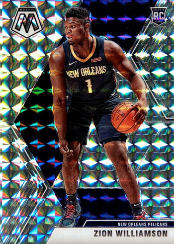 2019-20 Panini Mosaic Basketball Mosaic Zion Williamson