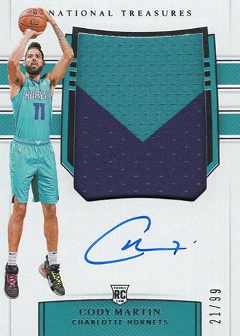 2019-20 Panini National Treasures Basketball Rookie Patch Autographs Cody Martin